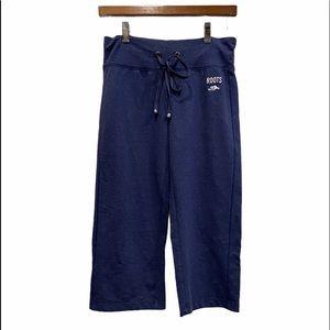 ROOTS Comfy Capri Sweatpants Blue Size Small GUC